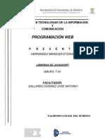 Reporte de Librerias de Javascript
