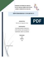 Hipotiroidismo Congrenico