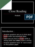 1. Close Reading Analysis Higher