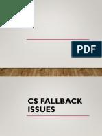 CSFB Issue