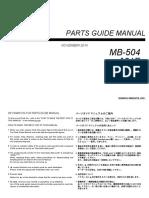 MB 504PartsManual