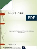 lactante febril