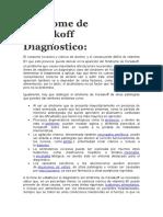 Síndrome de Korsakoff Diagnostico y Tratamiento