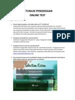 Petunjuk Pengerjaan Online Test Pt Telkom