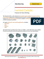 Cemented Carbide Products for Stone Working Spec Doc