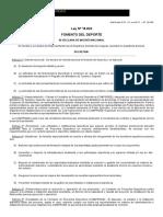 Ley 18.833 Mecenazgo en El Deporte