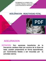 Aceleracion Reactividad Fetal