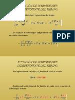 ECUACIÓN DE SCHRÖDINGER INDEPENDIENTE DEL TIEMPO Y PARTÍCULA LIBRE