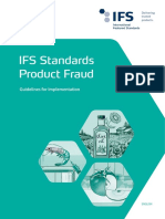 IFS Standards Product Fraud