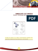 SIMBOLOGÍA DE TUBERÍAS Unidad 3.-Simbología aplicada en planos.pdf