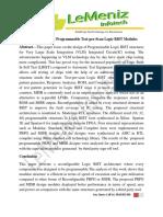 Design of Efficient Programmable Test-per-Scan Logic BIST Modules