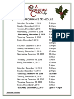 Christmas Carol Performance Schedule