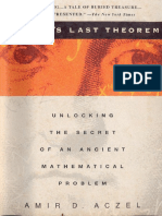 Fermat's Last Theorem, Unlocking the Secret of an Ancient Mathematical Problem - Amir D Aczel