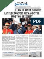 The Daily Observer Street Copy 9th November 2018