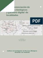 Georeferenciacion de Registros Biologicos y Gacetero de Localidades