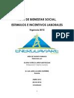 Plan de Bienestar Social Energuaviare s.a e.s.p Vigencia 2015_0