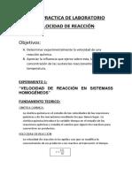 Informe de Quimica Laboratorio 6