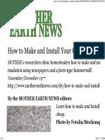 Make Insulation
