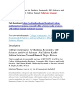 College Mathematics for Business Economics Life Sciences and Social Sciences 13th Edition Barnett Solutions Manual