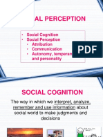 (Week 2 and 3) Social Cognition