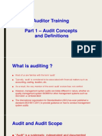 Auditor Training Part 1 - Auditing Concepts