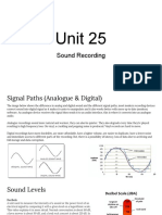 unit 25  sound recording