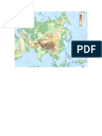 Mapa Asia Mudo