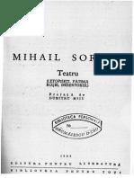 Mihail Sorbul - Dezertorul (66 p)