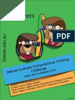 2016 Bebras Solution Guide AU 2