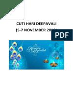 Cuti Hari Deepavali