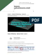 001-Alphacam 2.5D Machining - Lesson 1