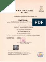 Certificat ISO9001 - En