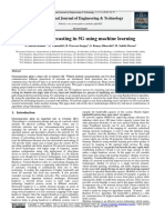 Handover forecasting in 5G using machine learning