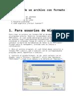 Manual Para Crear Archivos