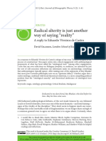 """David Graeber - Radical alterity is just another way of saying """"reality"""""""