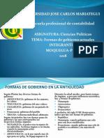 Las Formas de Gobierno Actuales - ciencias Políticas
