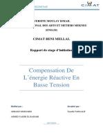 Rapport stagecompensation de l'energie reactive en basse tension CIMAT