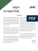 Gemalto Aadhaar Apology