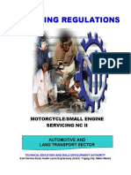 TR - Motorcycle Small Engine Servicing NC II