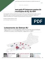 Deputados Presos Pela PF Lotearam Postos Do Detran Em 20 Municípios Do RJ, Diz MPF _ Rio de Janeiro _ G1
