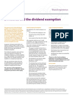 Dividends and the Dividend Exemption