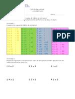 Guía de Aprendizaje Multiplicaciones Del 5 Al 8