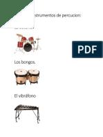 Clasificar instrumentos de percucion.docx