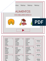 vocabulario -alimentos