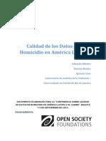 Calidad de Los Datos de Homicio FINAL ESPAÑOL