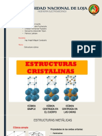 Estructuras Cristalinas Cúbicas