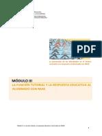 Modulo III. Funcion Tutorial y Respuesta Educativa Al Alumnado Neae