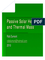 Rob Dumont Passive Solar Heating and Thermal Mass