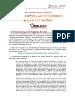 ES Lema y objetivo pedagógico pastoral curso 2018_2019