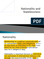 Nationality and Statelessness n